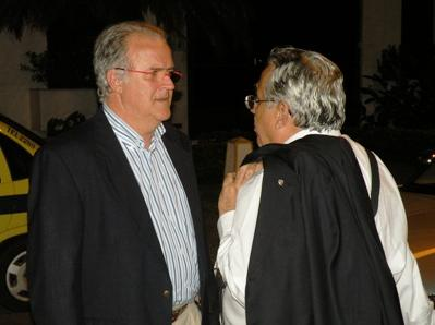 Mandarino e Eurico conversam ao final da reunião. Foto:  Blog Jogo Extra