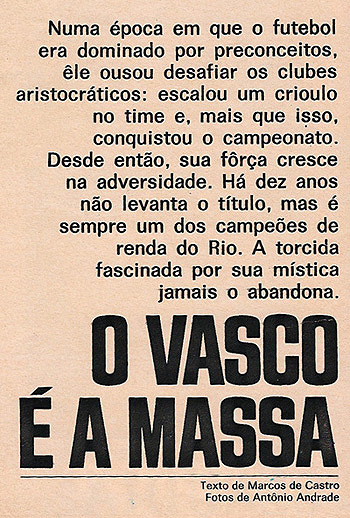 O Vasco é a massa