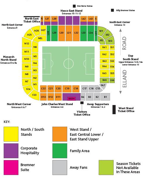 Elland Road Stadium - map