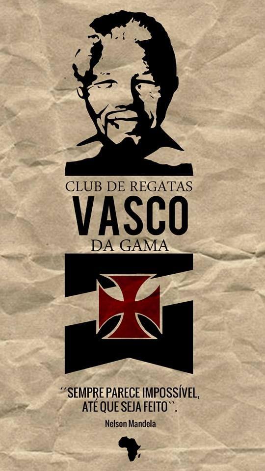 7f624b9d37 Vasco faz homenagem pela morte de Nelson Mandela