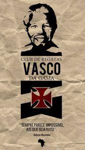 Vasco faz homenagem pela morte de Nelson Mandela